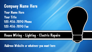 Electrician business cards zazzle electrician business cards flashek Choice Image