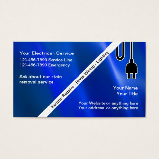 Electrical Contractor Business Cards & Templates | Zazzle