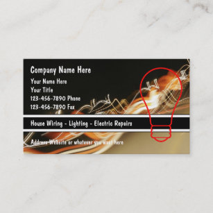 Electrician Business Cards on