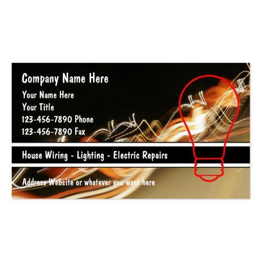electrician business cards zazzle