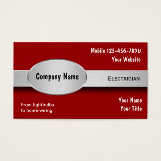 Electrician business cards templates zazzle for Electrician business cards ideas