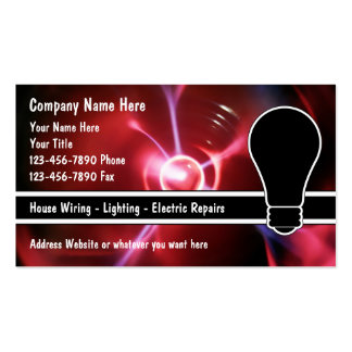 Electrician Business Cards