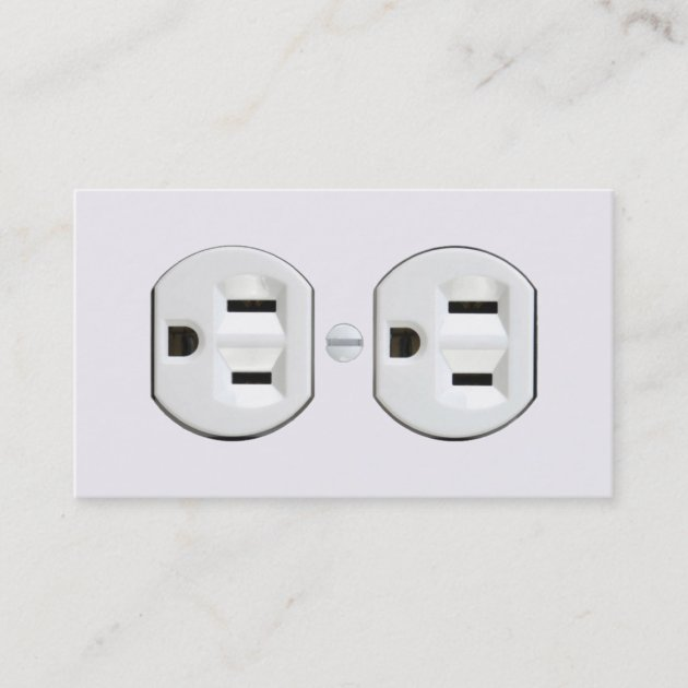 Electrical Wall Outlet Wiring Business Card Template Zazzle - WIRE ...