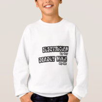 Electrician By Day...Deadly Ninja By Night Sweatshirt