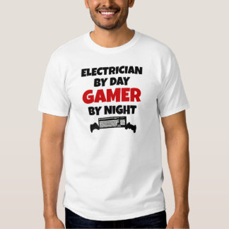 Electrician by Day Gamer by Night Tee Shirt