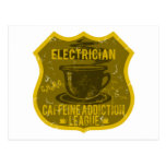 Electrician Caffeine Addiction League Postcard