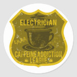 Electrician Caffeine Addiction League Stickers