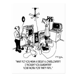 Electrician Cartoon 4427 Postcard