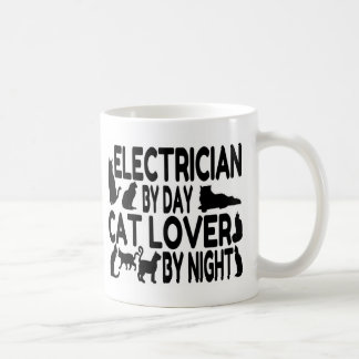Electrician Cat Lover Coffee Mug