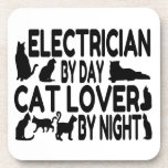 Electrician Cat Lover Drink Coasters