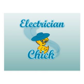 Electrician Chick #3 Postcard