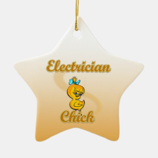 Electrician Chick Christmas Tree Ornament