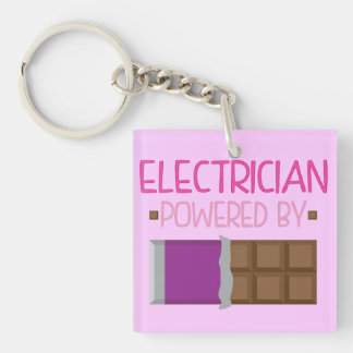 Electrician chocolate Gift for Her Keychain