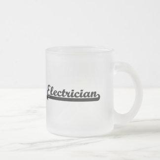 Electrician Classic Job Design 10 Oz Frosted Glass Coffee Mug