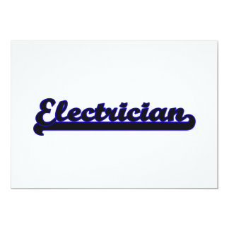 Electrician Classic Job Design 5x7 Paper Invitation Card