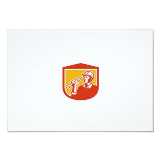 Electrician Clutching Lightning Bolt Shield 9 Cm X 13 Cm Invitation Card