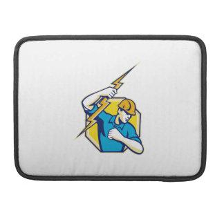 Electrician Construction Worker Retro MacBook Pro Sleeves