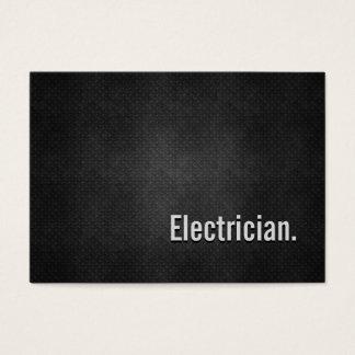 Electrician Cool Black Metal Simplicity Business Card