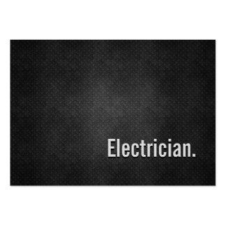 Electrician Cool Black Metal Simplicity Business Cards