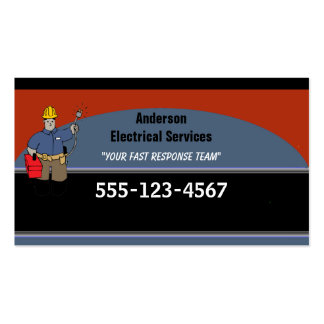 Electrician Custom Personalized Double-Sided Standard Business Cards (Pack Of 100)