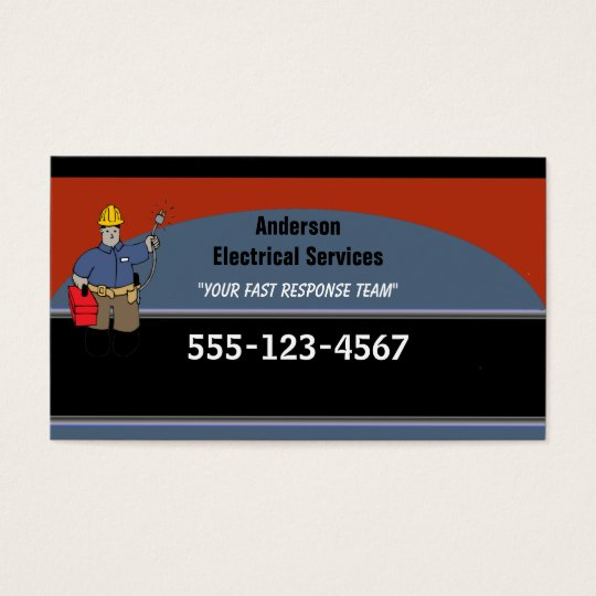 Electrician Custom Personalized Business Card