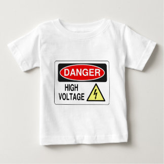 Electrician Danger High Voltage Baby T-Shirt