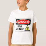 Electrician Danger High Voltage T-Shirt