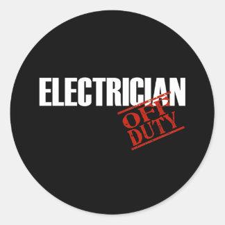ELECTRICIAN DARK CLASSIC ROUND STICKER
