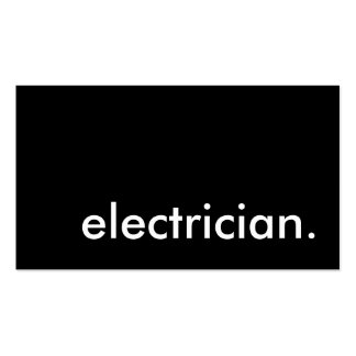 electrician. Double-Sided standard business cards (Pack of 100)