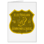 Electrician Drinking League Card
