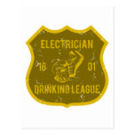 Electrician Drinking League Postcard