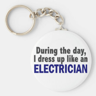 Electrician During The Day Keychain