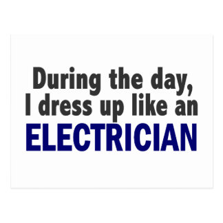 Electrician During The Day Post Card