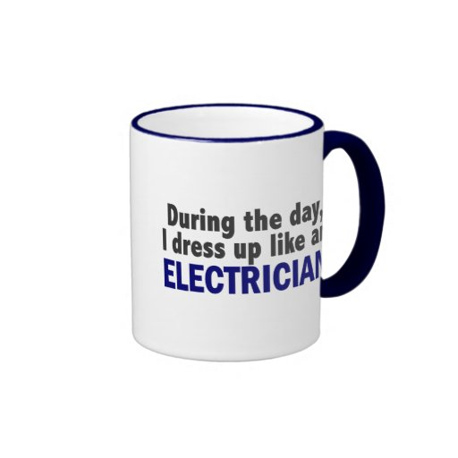 Electrician During The Day Ringer Coffee Mug