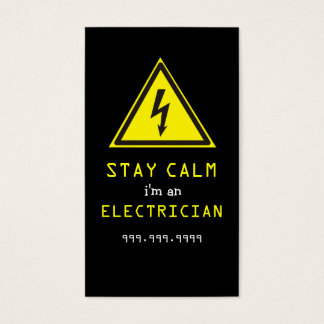 Electrician, Electric, Construction Business Card
