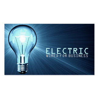 Electrician Electric Construction Business Card
