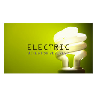 Electrician Electric Electricity Construction Business Card Template