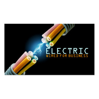 Electrician Electric Electricity Light Shock Wire Business Cards