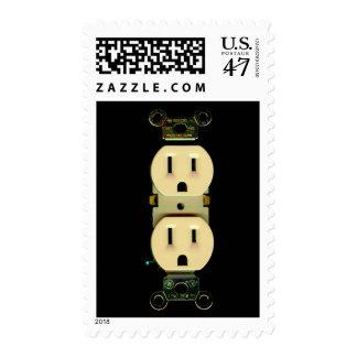 Electrician electrical company custom marketing postage