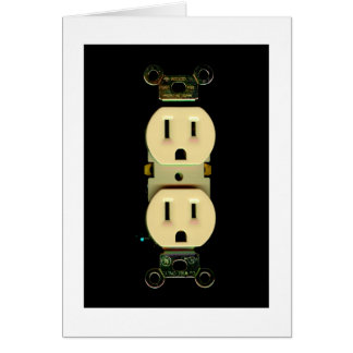 Electrician electrical company custom thank you card