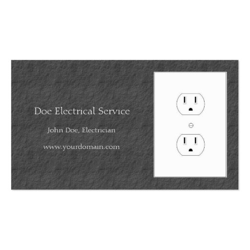 Electrician/Electrical Contractor Dark Grey Slate Business Card