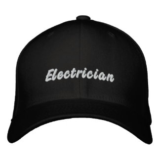 Electrician Embroidered Baseball Hat