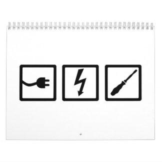 Electrician equipment calendar