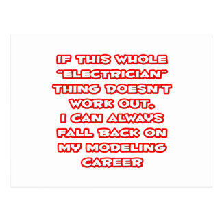 Electrician Humor Modeling Career Postcards