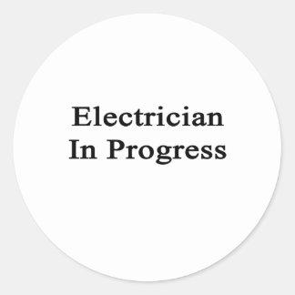 Electrician In Progress Classic Round Sticker