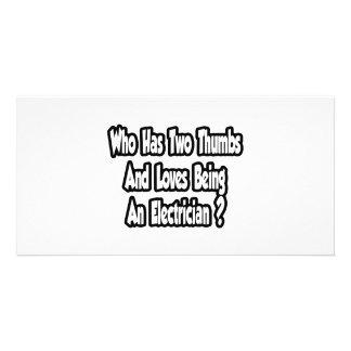 Electrician Joke...Two Thumbs Card