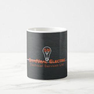 Electrician lightbulb logo coffee mug