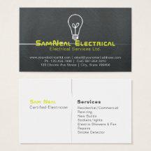 Electrician business cards templates zazzle colourmoves