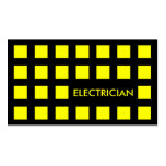 ELECTRICIAN (mod squares) Business Card Templates