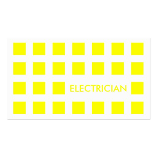ELECTRICIAN (mod squares) Double-Sided Standard Business Cards (Pack Of 100)